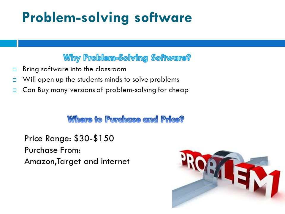 Problem-solving software