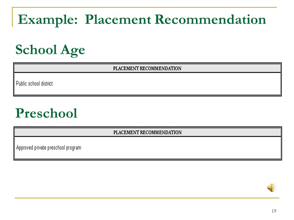 Example: Placement Recommendation