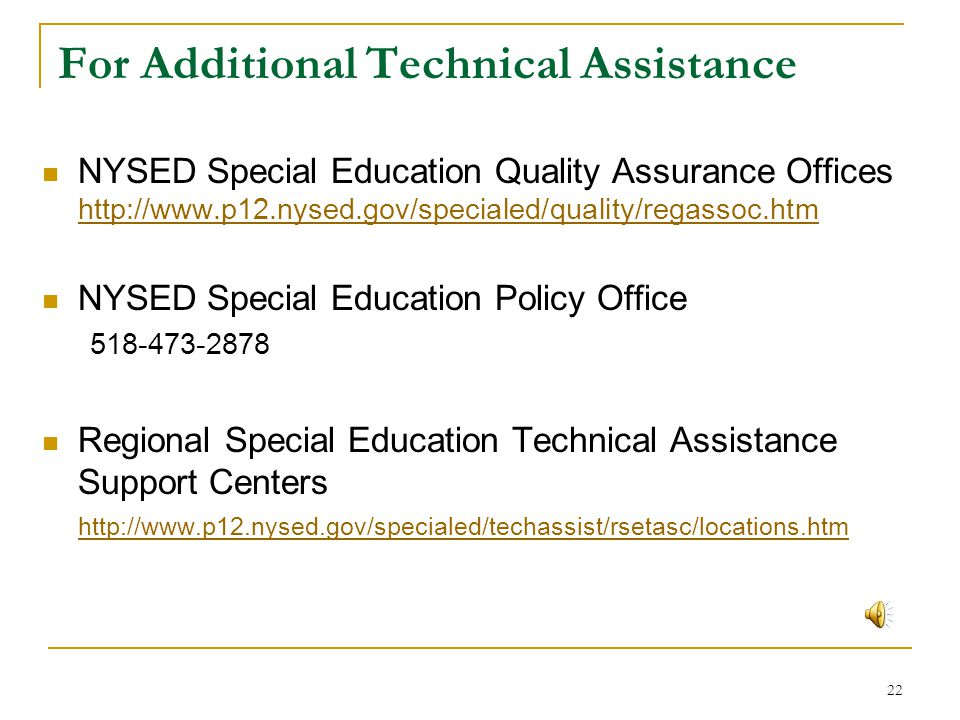 For Additional Technical Assistance