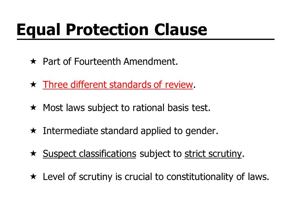 Equal Protection Clause