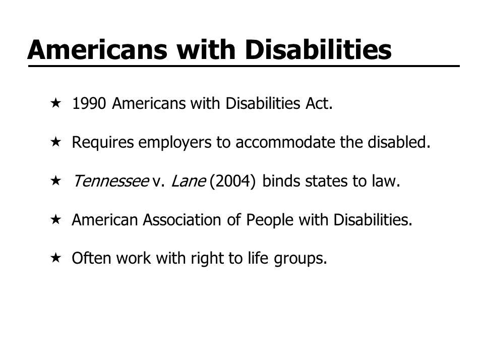 Americans with Disabilities