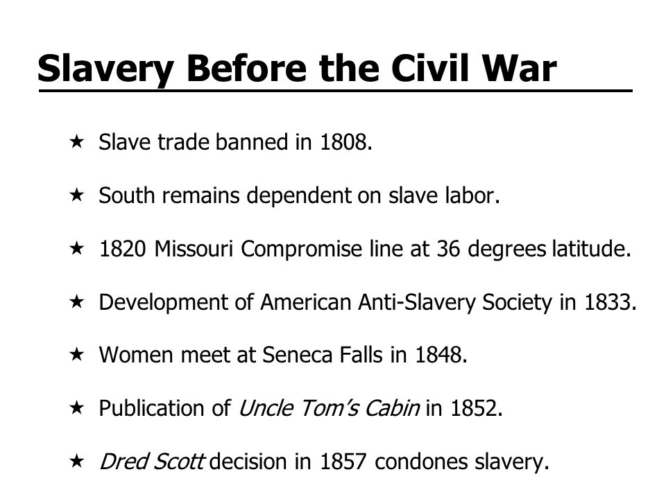 Slavery Before the Civil War