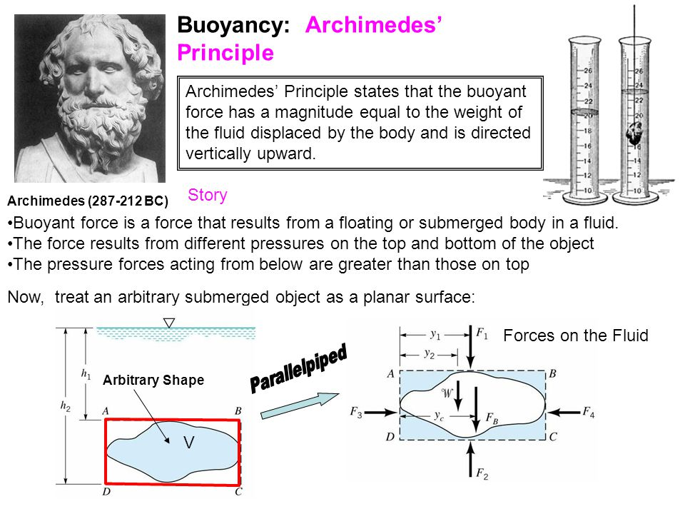 Buoyancy: Archimedes' Principle