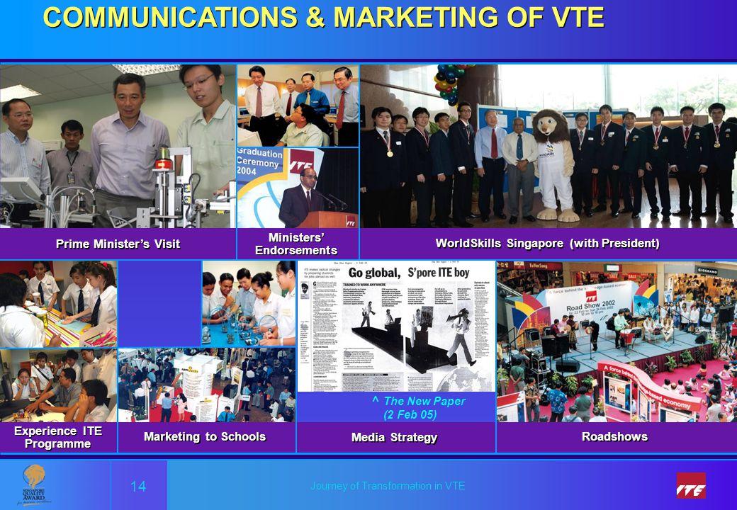 COMMUNICATIONS & MARKETING OF VTE