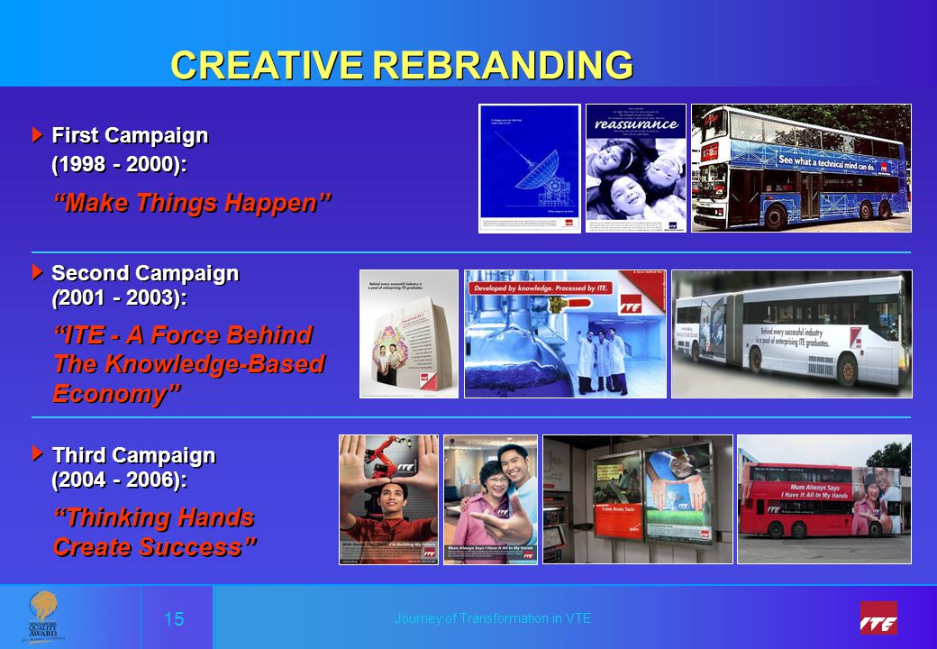 CREATIVE REBRANDING Make Things Happen''