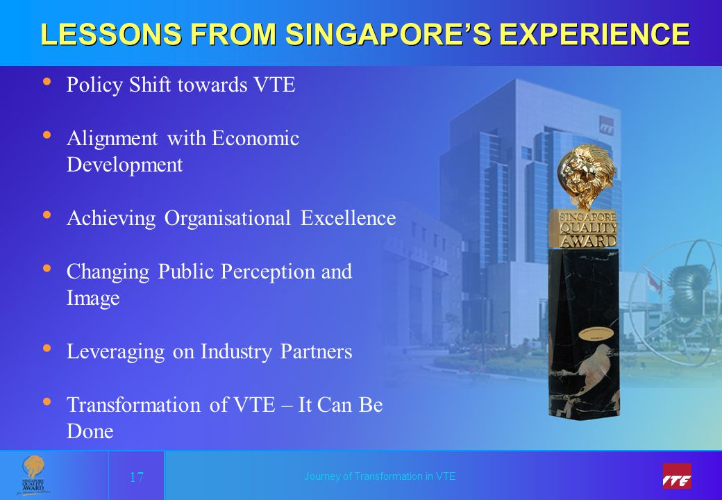 LESSONS FROM SINGAPORE'S EXPERIENCE