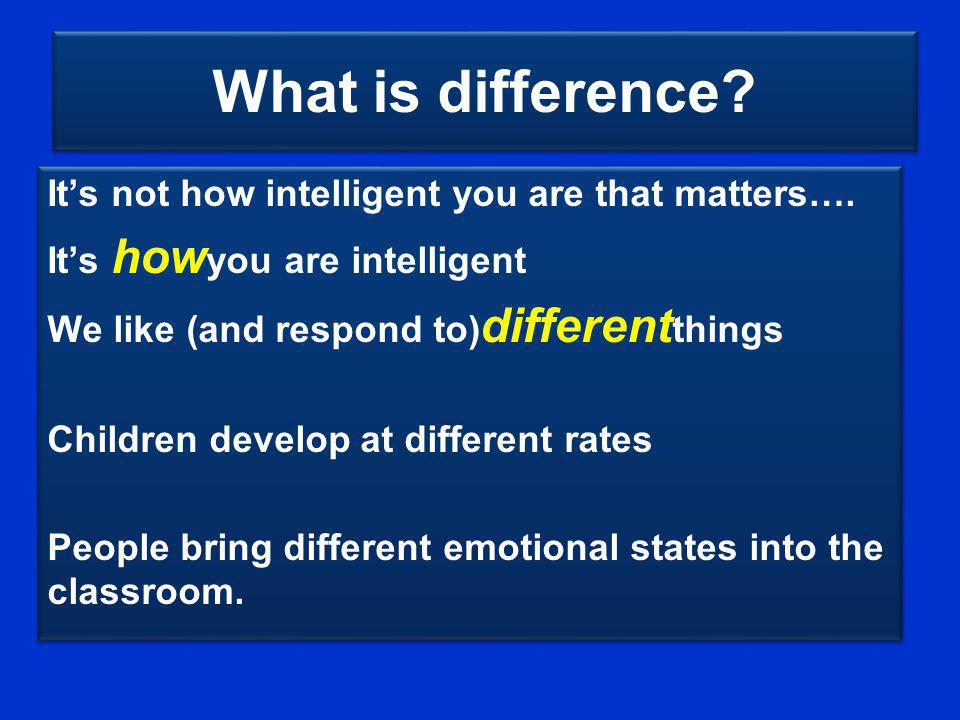 What is difference It's not how intelligent you are that matters….