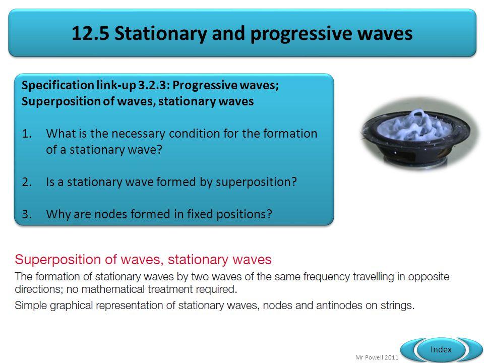 12.5 Stationary and progressive waves