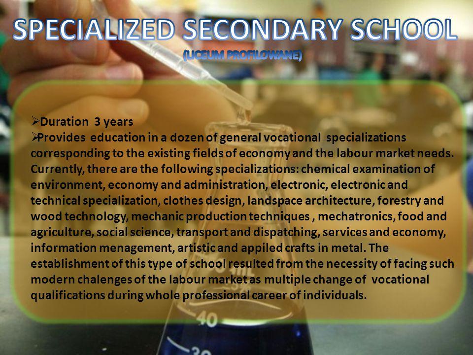 SPECIALIZED SECONDARY SCHOOL