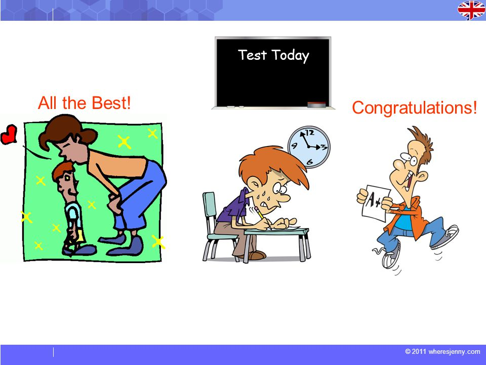 Test Today All the Best! Congratulations!