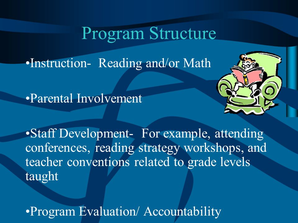 Program Structure Instruction- Reading and/or Math