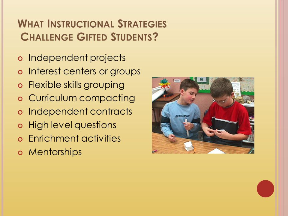 What Instructional Strategies Challenge Gifted Students