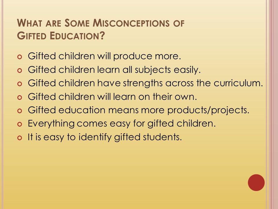 What are Some Misconceptions of Gifted Education