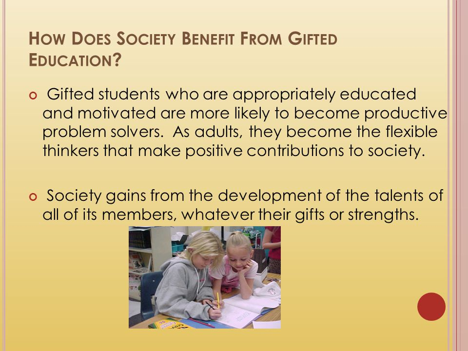 How Does Society Benefit From Gifted Education