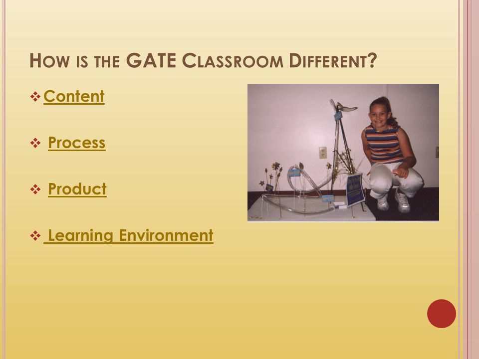 How is the GATE Classroom Different