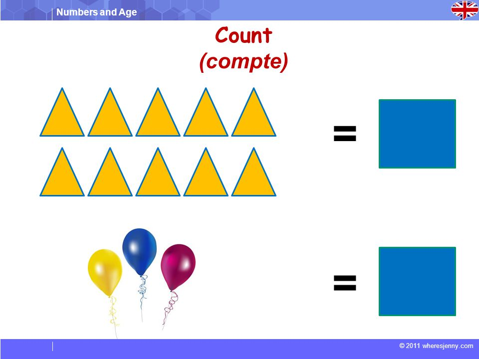 Count (compte) = =