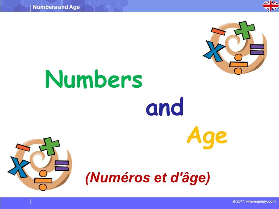 Numbers and Age (Numéros et d âge)