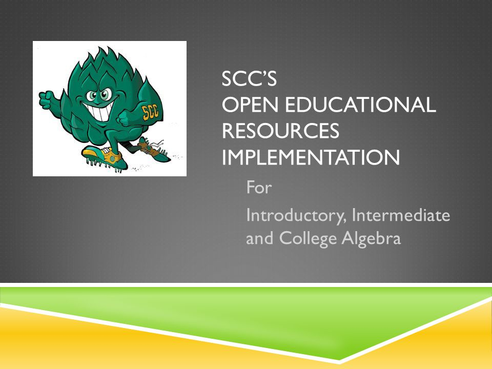 SCC's Open EducationAL Resources Implementation