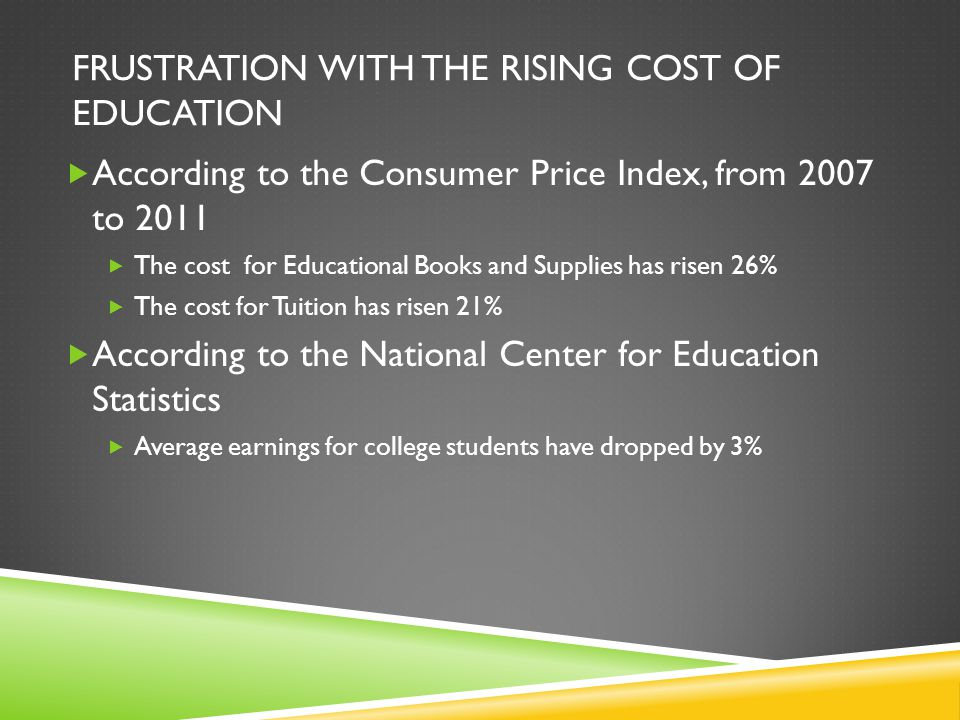 Frustration with the Rising cost of education
