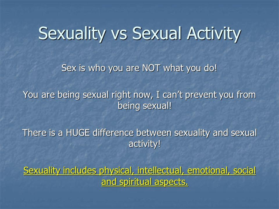 Sexuality vs Sexual Activity
