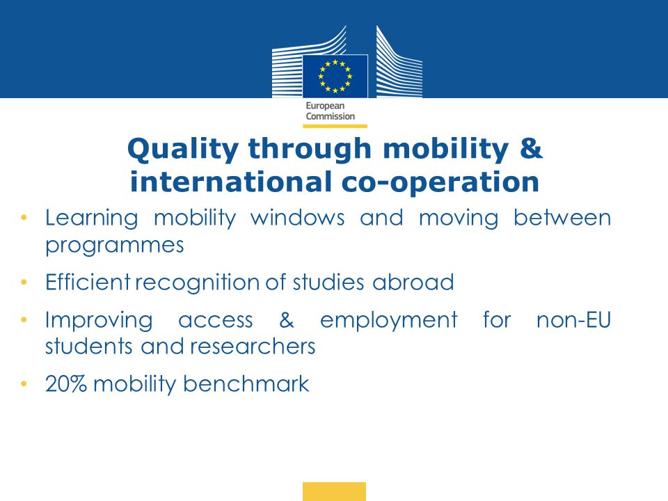 Quality through mobility & international co-operation