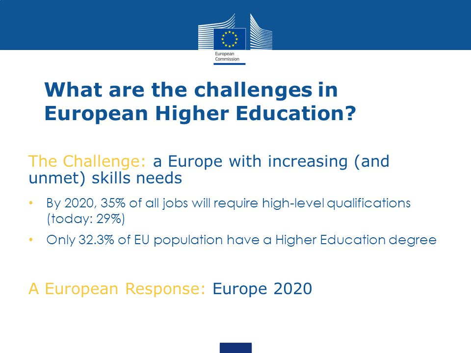 What are the challenges in European Higher Education