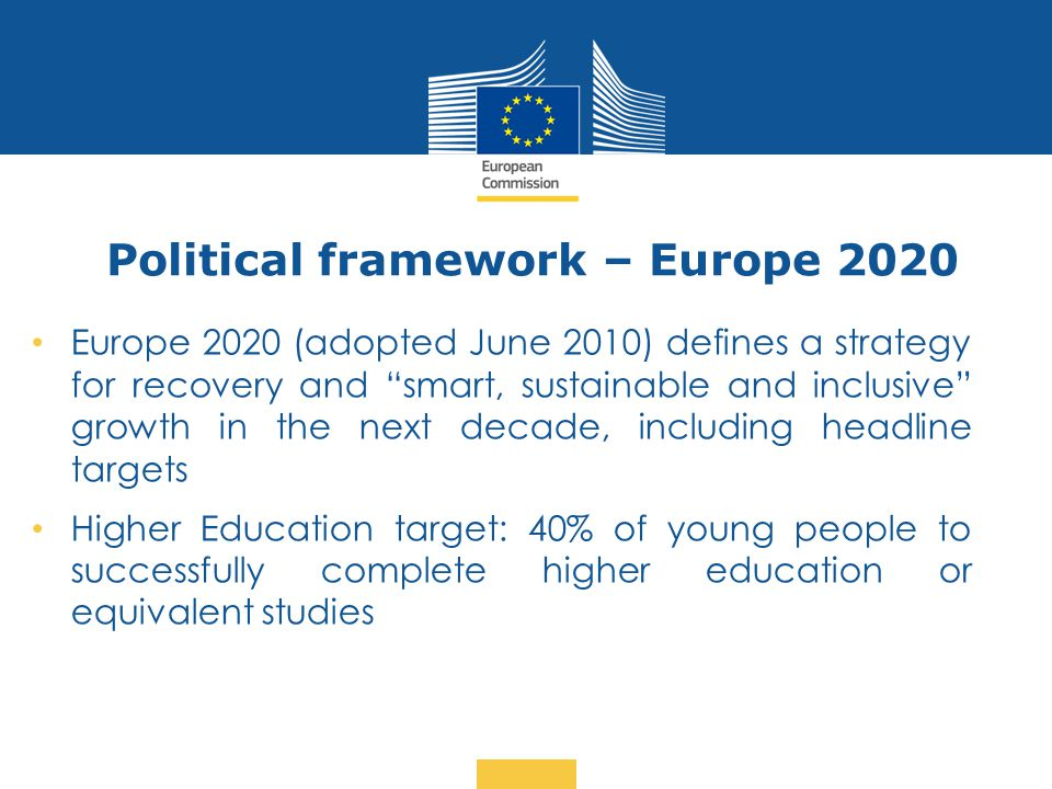 Political framework – Europe 2020