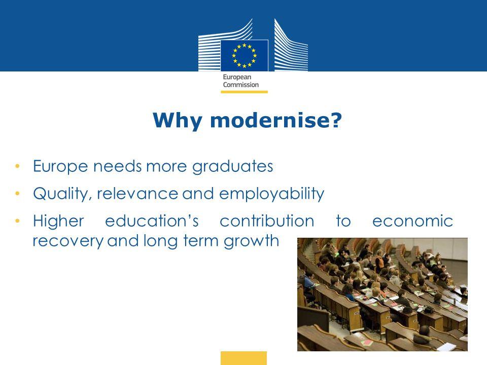 Why modernise Europe needs more graduates