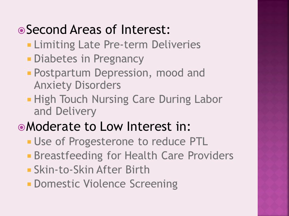 Second Areas of Interest: