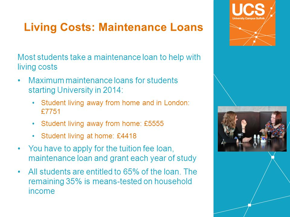 Living Costs: Maintenance Loans
