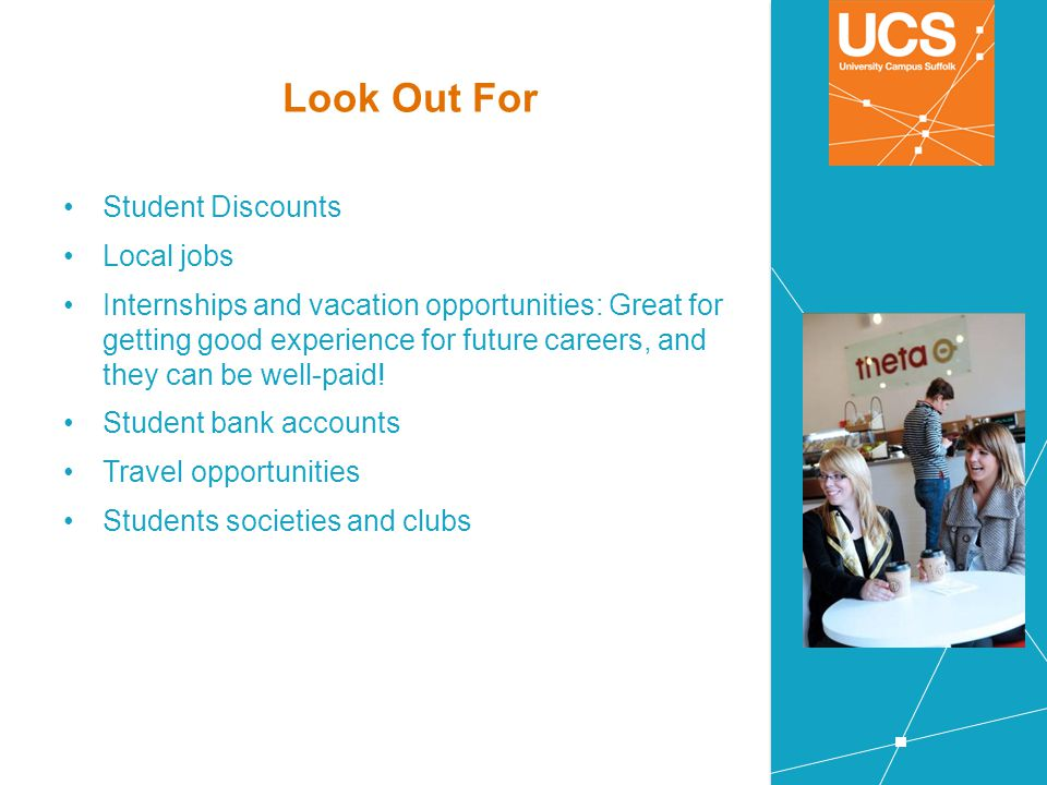 Look Out For Student Discounts Local jobs
