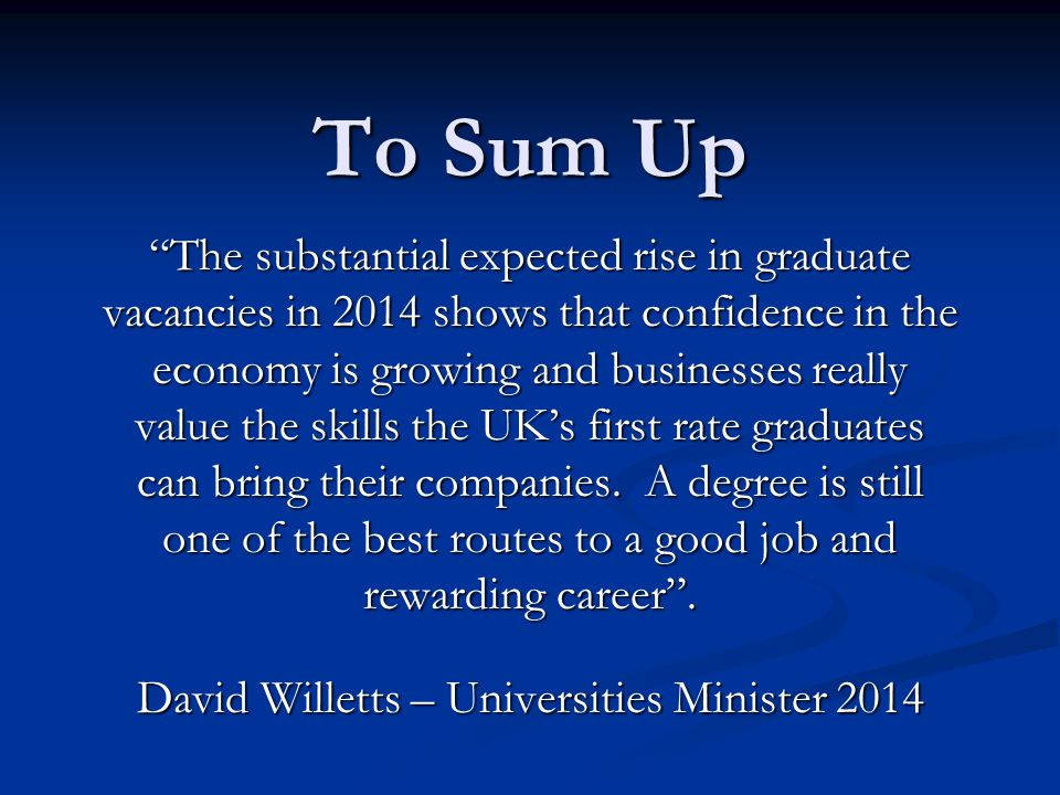 David Willetts – Universities Minister 2014