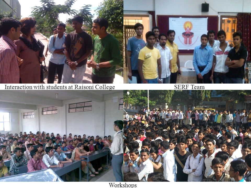 Workshops Interaction with students at Raisoni College SERF Team