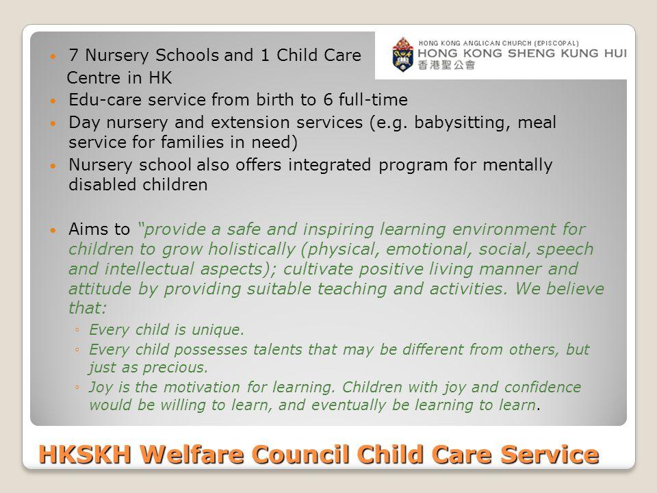 HKSKH Welfare Council Child Care Service