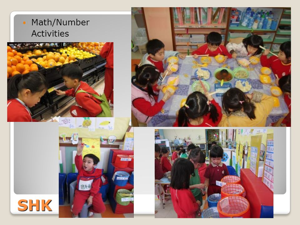 Math/Number Activities SHK