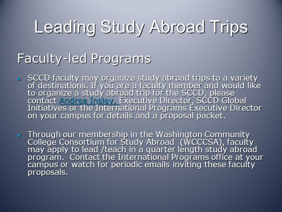 Leading Study Abroad Trips