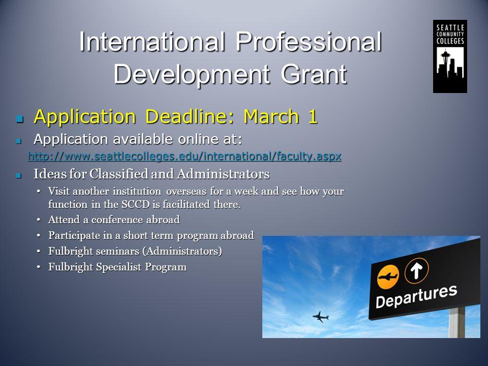 International Professional Development Grant