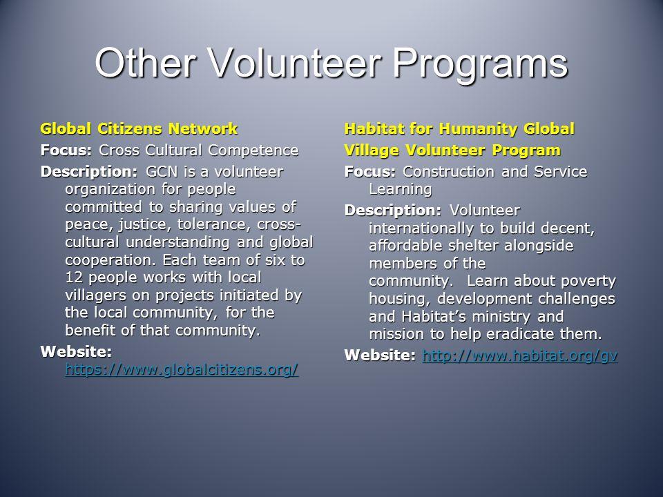 Other Volunteer Programs
