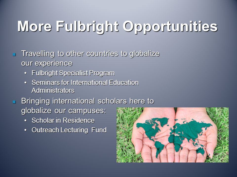 More Fulbright Opportunities