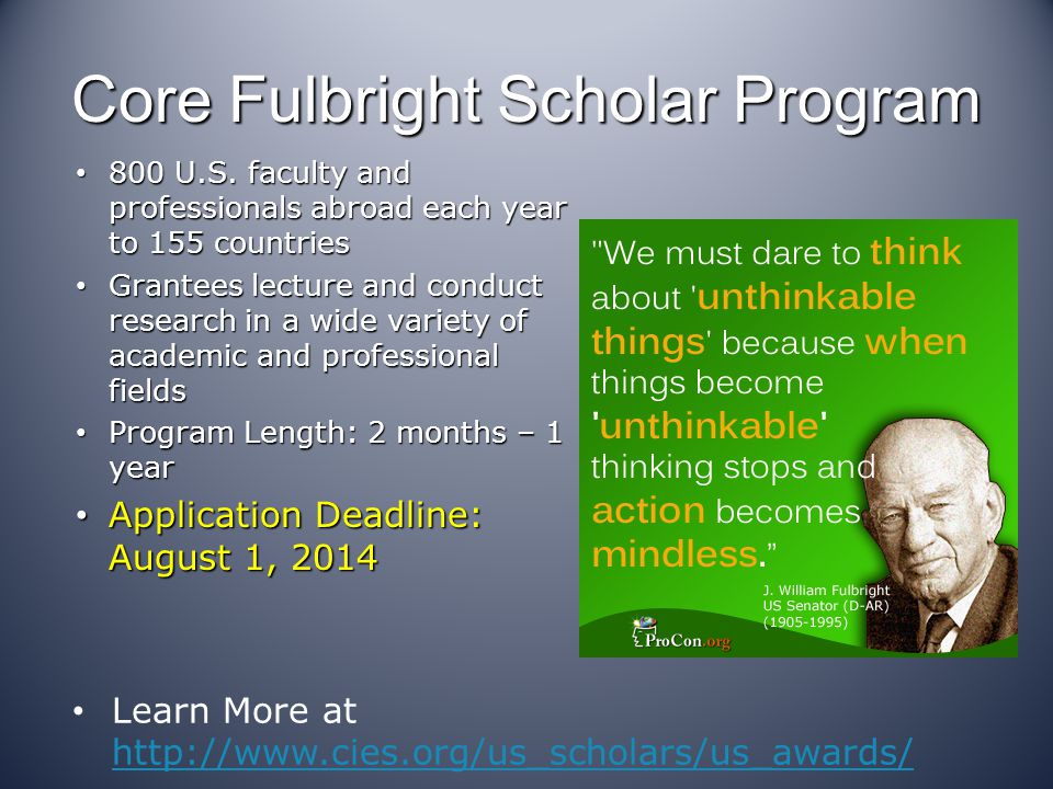 Core Fulbright Scholar Program