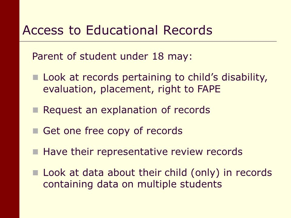 Access to Educational Records