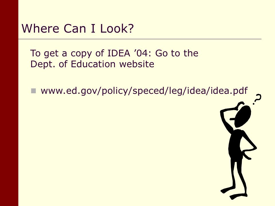 Where Can I Look To get a copy of IDEA '04: Go to the