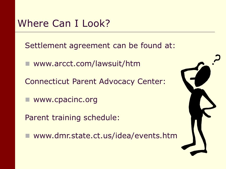 Where Can I Look Settlement agreement can be found at: