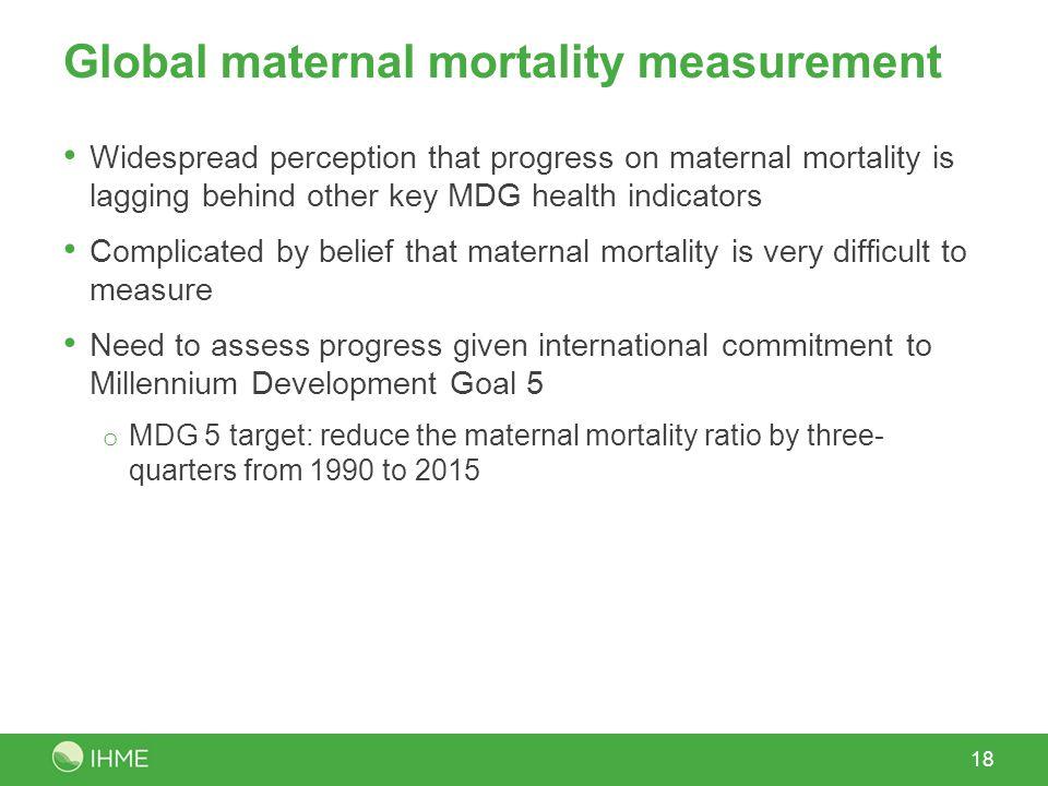Global maternal mortality measurement