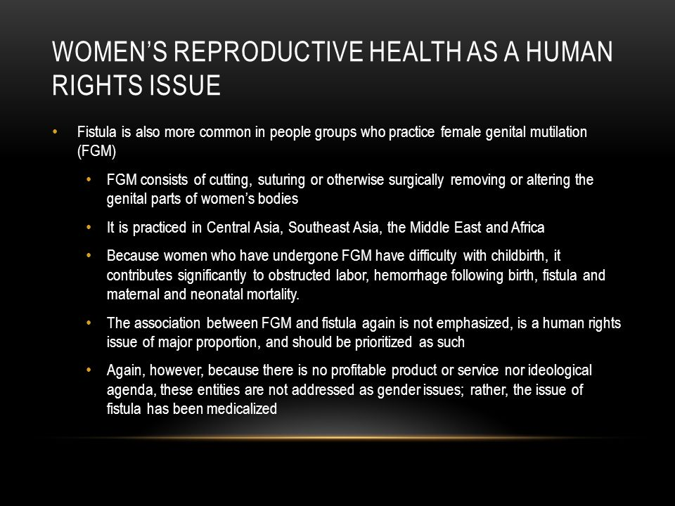 Women's reproductive health as a human rights issue