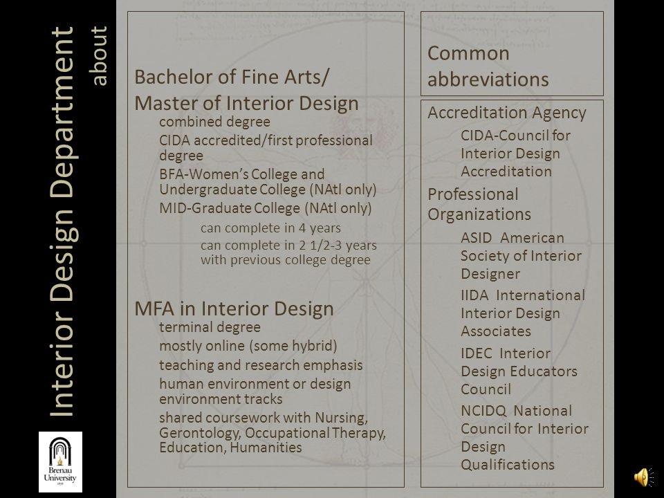 Cida Accredited Interior Design Schools. Interior Design Department Ppt  Video Online Download Cida Accredited Schools