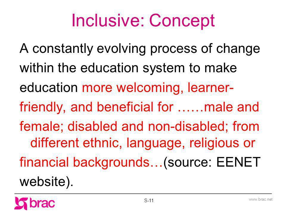 Inclusive: Concept