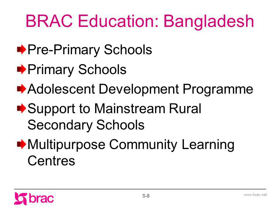 BRAC Education: Bangladesh