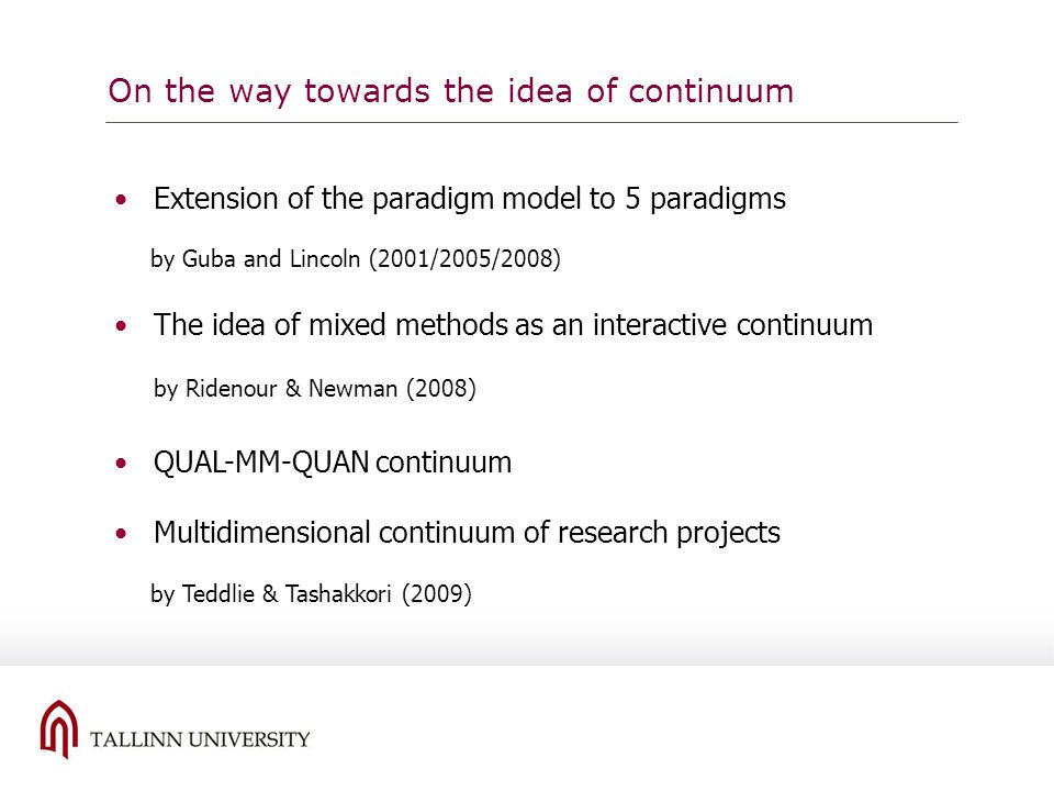 On the way towards the idea of continuum