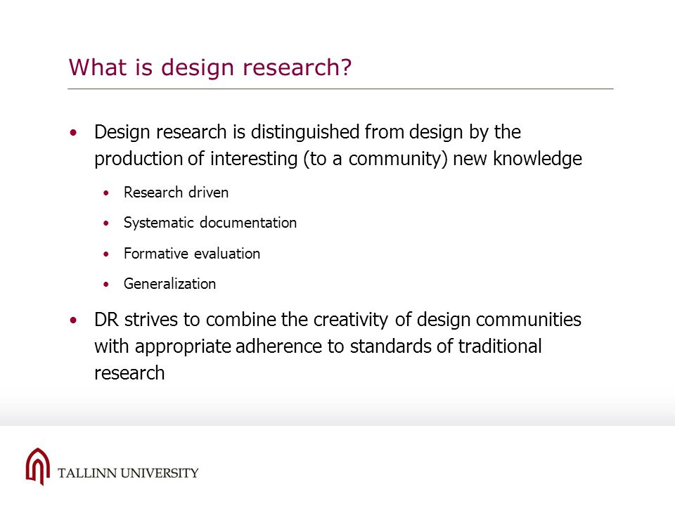 What is design research